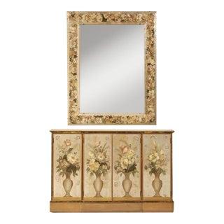 Circa 1940s Mirror Églomisé Buffet & Mirror