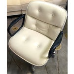 Image of Mid-Century White Leather Desk Chair