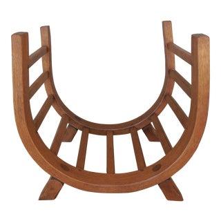 Hunt Country Oak Arts & Crafts Style Log Holder