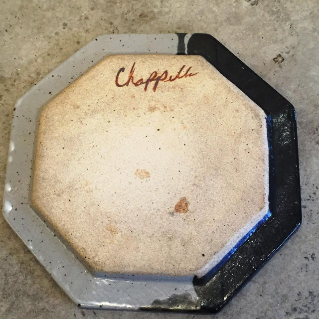 Jerry Chappelle Vintage Modernist Ceramic Plate - Image 4 of 6