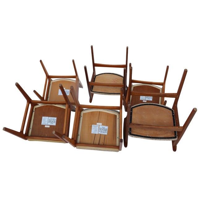 Vintage D-Scan Teak Dining Chairs - Set of 6 - Image 4 of 7
