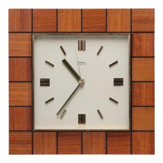 Mid Century Diehl Resonic Wood Frame Clock