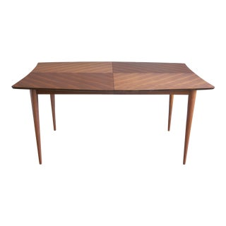 Bleached Mahogany Expandable Dining Table by Paul Laszlo