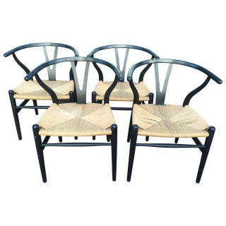 Hans Wegner CH24 Wishbone Chairs - Set of 4