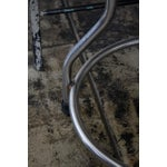 Image of Industrial Adjustable Height Polished Stool