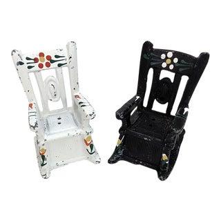 Rocking Chair Salt & Pepper Shakers - A Pair