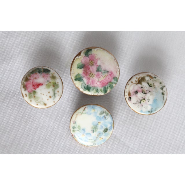 Antique Hand-Painted Porcelain Studs/Buttons - Set of 12 - Image 8 of 11