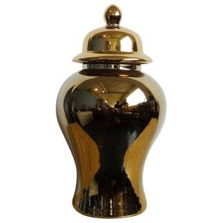 Ceramic Gold Temple Jar