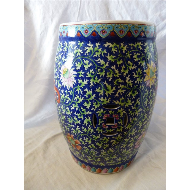 Chinoiserie Garden Stool With Dragon Motif - Image 5 of 8