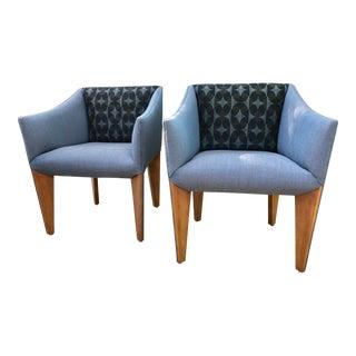 """Mid-Century Modern """"Fin Leg"""" Lounge Chairs - A Pair"""