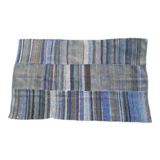 Multi Shaded Indigo Tribal Rug - 3′4″ × 5′8″