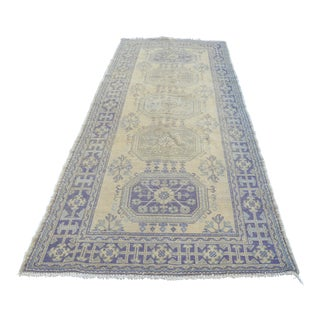 Turkish Handmade Wool Runner Rug - 4′7″ × 11′4″