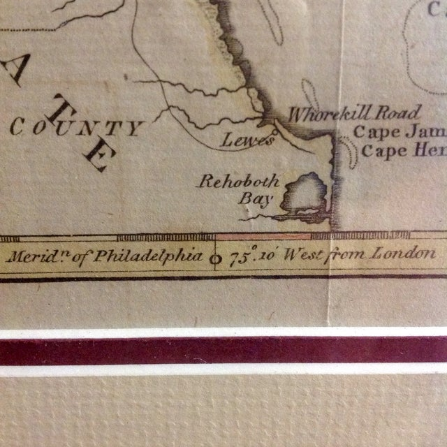"""1788 """"The Jerseys"""" Hand Colored Engraved Map - Image 8 of 10"""