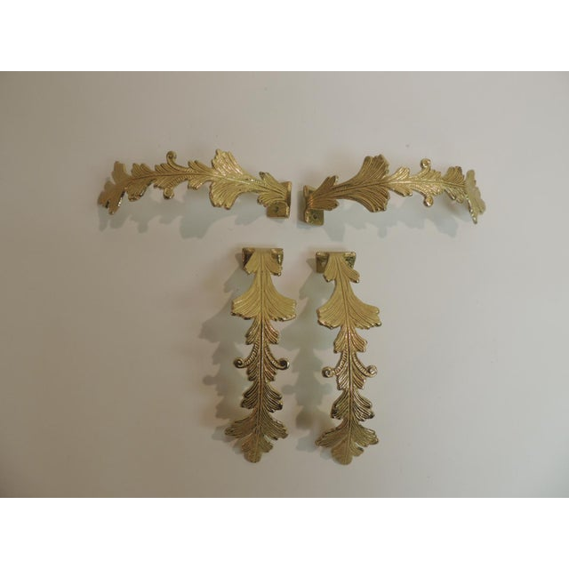 Vintage Polished Brass Curtain Tiebacks - Set of 4 - Image 4 of 4