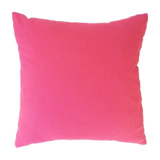 Hot Pink Linen Pillows - Pair