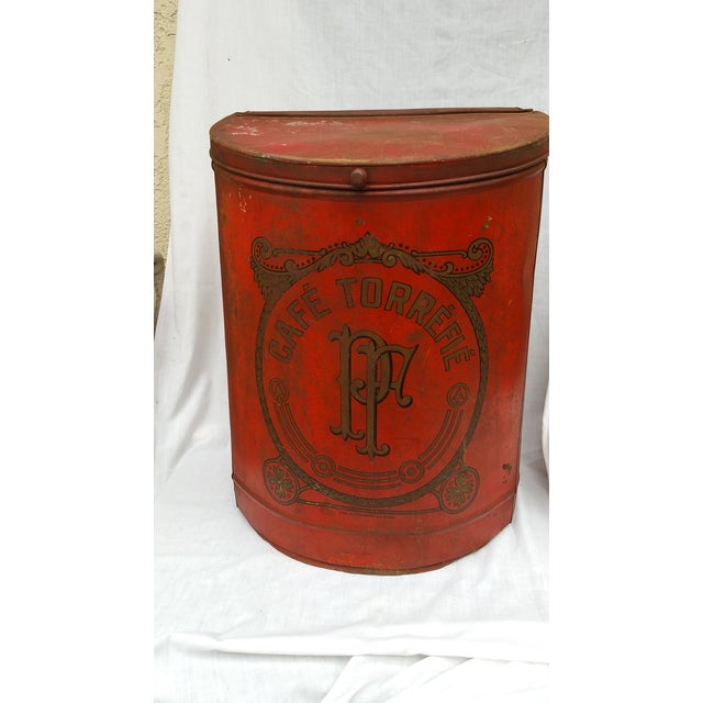 19th Century French Cafe Tin Hamper - Image 2 of 8