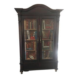 Dark Brown Media Cabinet Bookshelf