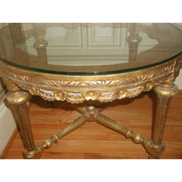 French 19th c hand carved gilt coffee table chairish Hand carved coffee table