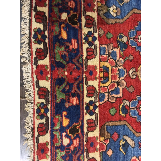 "Vintage Bellwether Rugs Persian Bactiari Area Rug - 6'9""x10'2"" - Image 6 of 11"