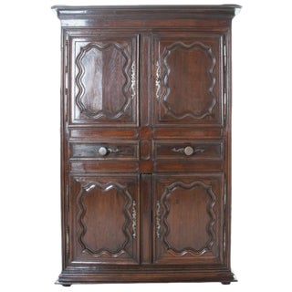 French 18th Century Dark Oak Homme Debout / Cupboard