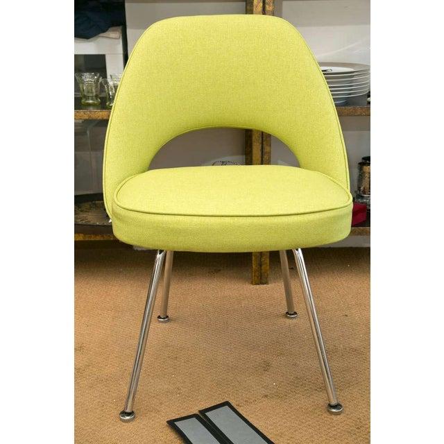 Saarinen Executive Side Chair, Honey Dew Green - Image 3 of 8