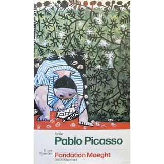"""1981 Pablo Picasso """"Enfant Jouant Avec Un Camion"""" Exhibition Poster"""