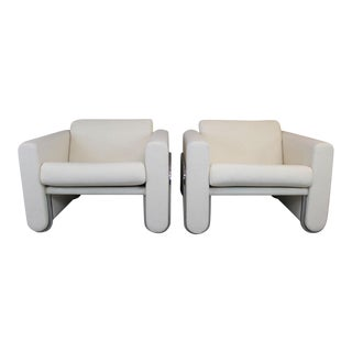 Le Corbusier Style Custom Made Club Chairs - Pair