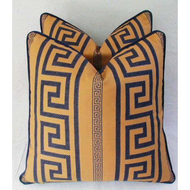 Designer Pierre Frey Greek Key Pillows - A Pair - Image 2 of 11