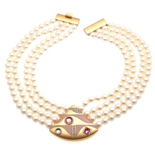 Monet Faux-Pearl Necklace