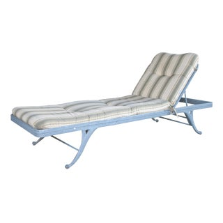 An American Regency Style Gray Aluminum Garden Lounge Chair by Brown Jordan