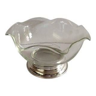 Vintage Sterling Silver & Glass Dish