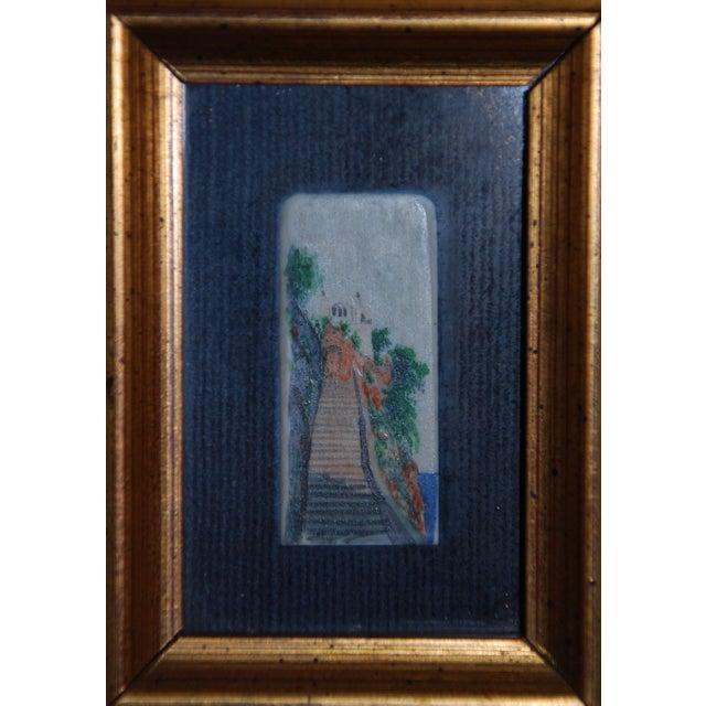 Capri Miniature Painting on Ivory Piano Key - Image 2 of 4