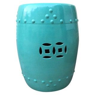 Turquoise Ceramic Garden Stool