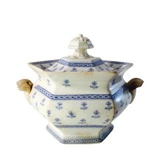 Antique Blue & White Staffordshire Porcelain Bowl