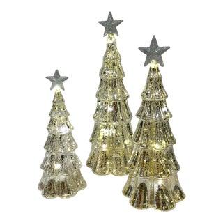 LED Lighted Christmas Trees - Set of 3