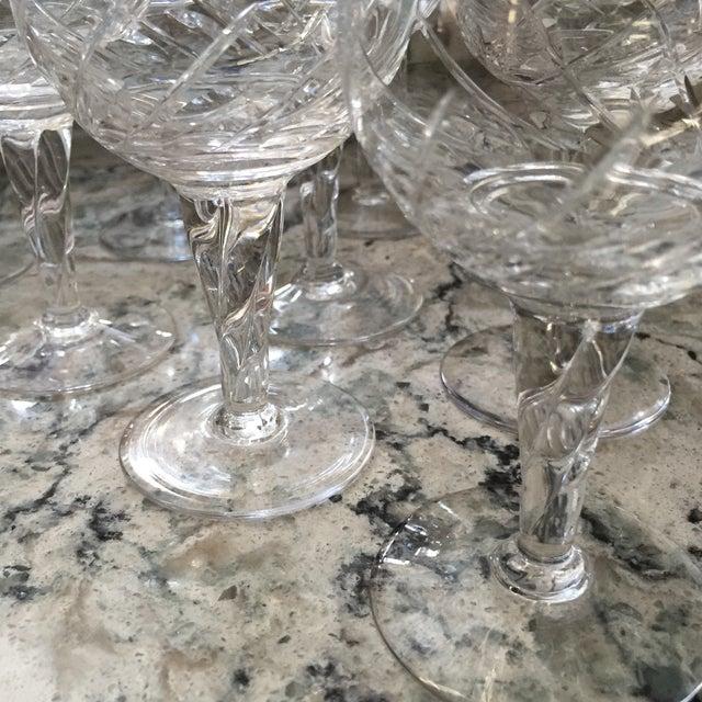 Vintage Crystal Dessert Wine Glasses - Set of Ten - Image 6 of 6