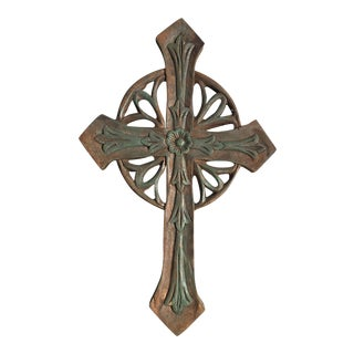 Wooden Hand Carved Cross