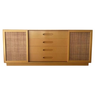 Harvey Probber Mid-Century Lacquer & Cane Credenza
