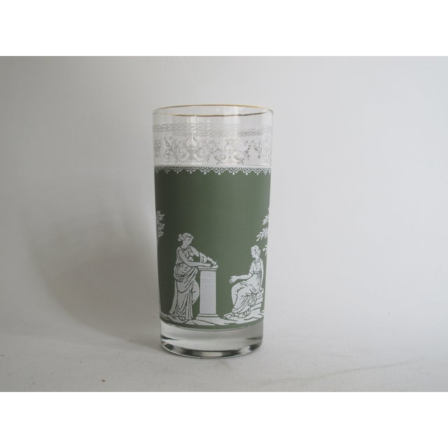 Neoclassical High Ball Glasses & Caddy - Set of 9 - Image 7 of 9