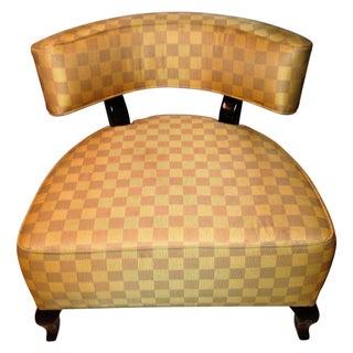 Mod Slipper Chair in Custom Upholstery & Wenge
