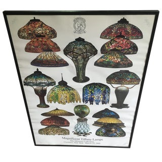 1980s Tiffany Lamps Mihalak Collection Ad Poster