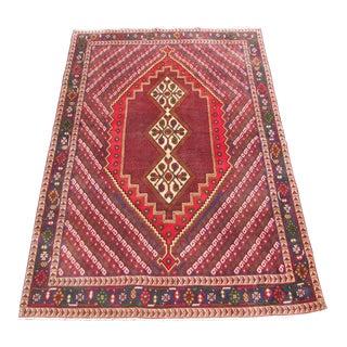 Persian Afshar Handmade Area Rug - 7'3 x 5'