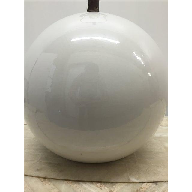 Globe Lamp in the Manner of Karl Springer - Image 3 of 3
