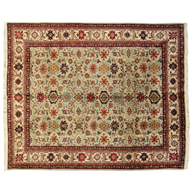 "Hand-Knotted Mahal Wool Rug - 8' x 9'8"" - Image 1 of 5"