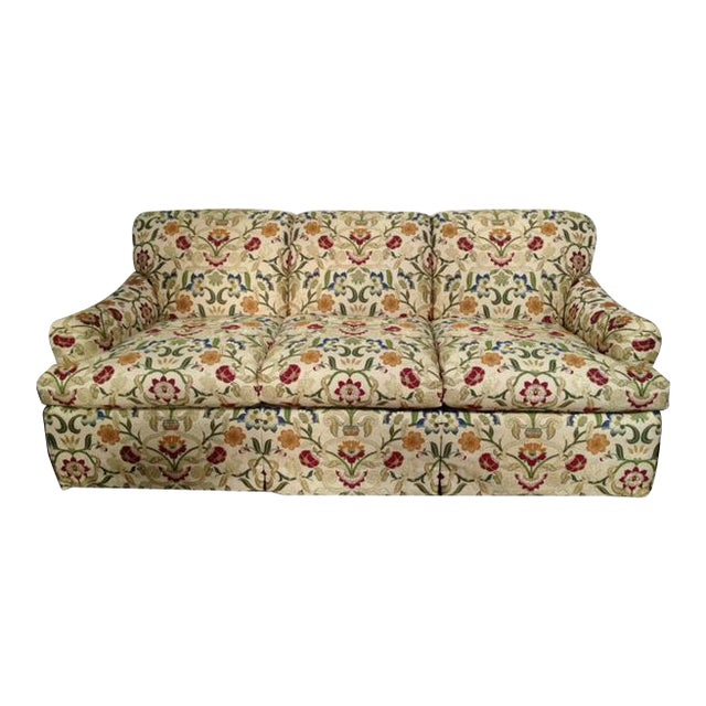 Portuguese Tapestry Upholstered Willis Sofa - Image 1 of 6