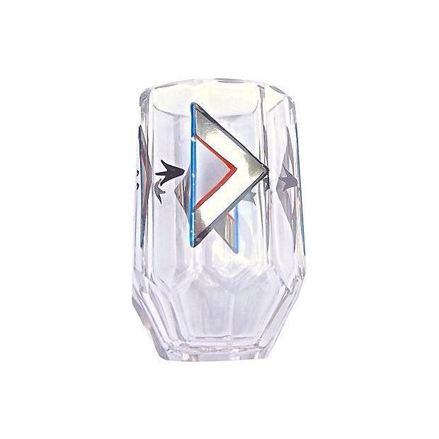 Image of Art Deco Czech Crystal Liquor Set - Set of 6