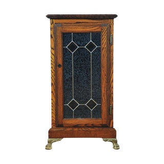 Slot Machine, Original Oak Stand Cabinet