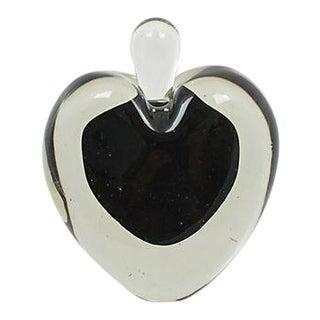 Murano Black Heart Perfume Bottle