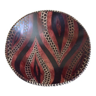 Tribal Wood Carved Bowl