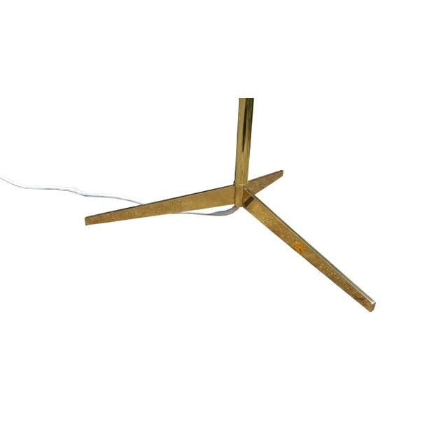 Mid Century Modern BrassTripod Floor Lamp in the Manner of Paul McCobb - Image 5 of 6